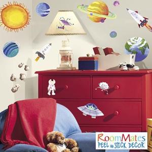 ウォールステッカー シール式 子供部屋 キッチン 男の子 壁 窓 ドア ガラス 北欧 おしゃれ RoomMates(ルームメイツ) アウタースペース|jonan-interior