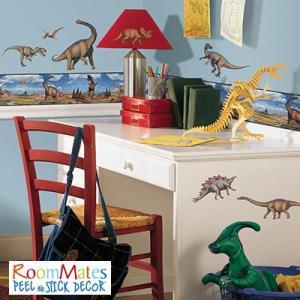 ウォールステッカー シール式 子供部屋 恐竜 キッチン 男の子 壁 窓 ドア ガラス 北欧 おしゃれ RoomMates(ルームメイツ) ダイナソー|jonan-interior