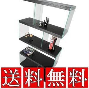 デザインシェルフ BK【NEOA-09】 送料無料 スタンド 収納 ディスプレイラック オープンラック  ラック 棚 シェルフ|jonan-interior