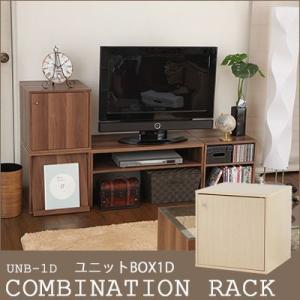 カラーボックス 収納ラック キューブボックス neoa-315[UNB-1D-2BR/UNB-1D-1NA]COMBINATION RACK/ユニットBOX1D 扉付き 収納ボックス ユニットボックス|jonan-interior