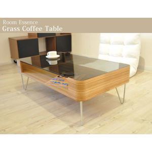 Room Essence ガラスコーヒーテーブル Lサイズ NEOA-41 カフェテーブル ガラステーブル 北欧 ミッドセンチュリー  ローテーブル リビング|jonan-interior