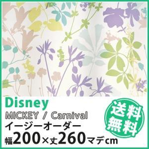 カーテン Disney ディズニー disney ミッキー カーニバル イージーオーダー 幅101〜200×丈1〜260cm|jonan-interior