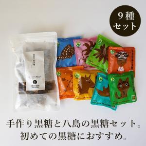 手作り黒糖と八島黒糖のセット 黒糖お試しセット 沖縄産黒糖 送料無料