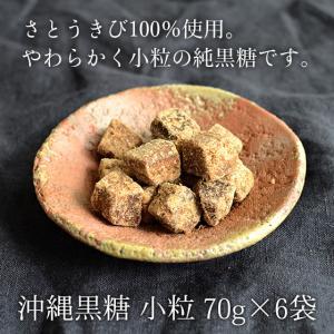 【今だけポイント2倍】沖縄黒糖 70g×6袋 食べやすい小粒の純黒糖 黒砂糖 送料無料