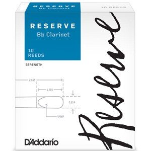 ダダリオウッドウインズ B♭クラリネットリード(ダダリオ レゼルヴ・3.5)10枚入り D'Addario WOODWINDS RESERVE LDADRECL3.5 返品種別A