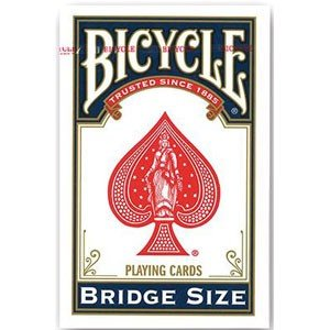 U.S.プレイングカード バイスクルトランプ ブリッジサイズ BICYCLE BRIDGE SIZE(全2色:青赤)(※色の指定はできません)トランプ 返品種別B