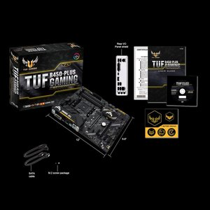 エイスース ATX対応マザーボード ASUS TUF B450-PLUS GAMING [AMD Ryzen AM4ソケット対応] TUFB450-PLUSGAMING 返品種別B