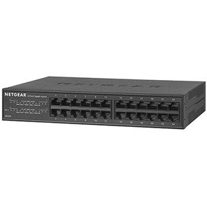 NETGEAR SOHO/ 家庭用ギガビット24ポートアンマネージスイッチ [メタル筐体/ 1000Mbps対応/ 電源内蔵] GS324-100JPS 返品種別B|joshin
