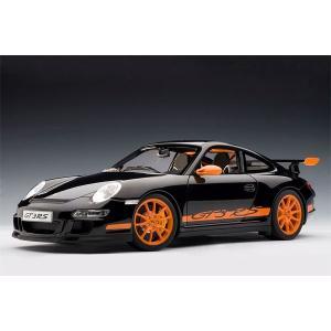 オートアート 1/ 12 ポルシェ 911 997 GT3 RS ブラック/ オレンジストライプ(12116)ミニカー 返品種別B joshin