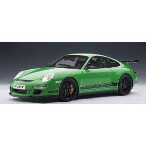 オートアート 1/ 12 ポルシェ 911 (997) GT3 RS グリーン/ ブラックストライプ(12118)ミニカー 返品種別B joshin