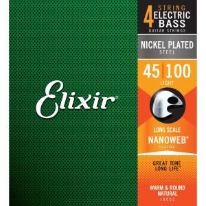 エリクサー エレキベース弦(.045-.100)ロングスケール Elixir NANOWEB Light /  Long Scale 14052(ELIXIR) 返品種別A