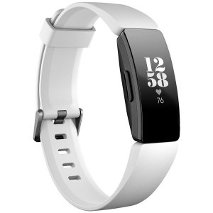 フィットビット ウェアラブル活動量計(White/ Black) L/ SサイズFitbit Ins...