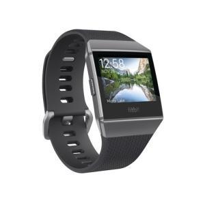 フィットビット スマートウォッチ(チャコール/ スモークグレー)Fitbit iONIC FB503GYBK-CJK 返品種別A joshin