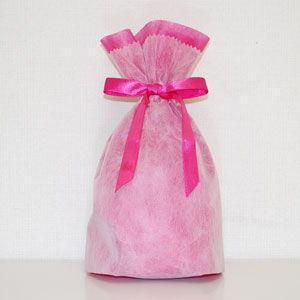 シモジマ 不織布リボン巾着袋 Sサイズ(ピンク) 返品種別B|joshin
