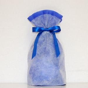 シモジマ 不織布リボン巾着袋 Sサイズ(ブルー) 返品種別B|joshin