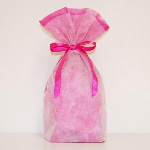 シモジマ 不織布リボン巾着袋 Mサイズ(ピンク) 返品種別B|joshin
