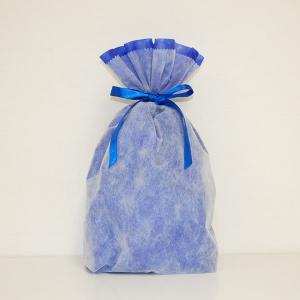 シモジマ 不織布リボン巾着袋 Lサイズ(ブルー) 返品種別B|joshin
