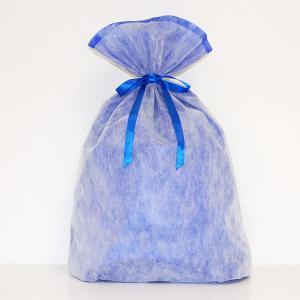 シモジマ 不織布リボン巾着袋 LLサイズ(ブルー) 返品種別B|joshin