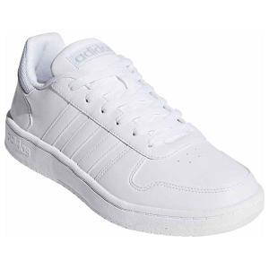アディダス メンズ カジュアルシューズ(ランニングホワイト×ランニングホワイト×グレーワンF1・25.5cm) adidas ADIHOOPS 2.0 ADJ-DB1085-255 返品種別A|joshin