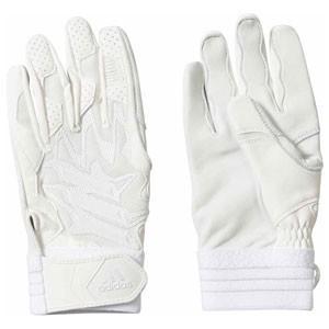 アディダス バッティンググローブ(ホワイト/ ホワイト・両手用・O) adidas 5T バッティンググラブ AJ-FTK89-DU9690-O 返品種別A joshin
