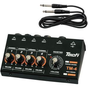テック 4chマイクロミキサー TECH TM-4 返品種別A