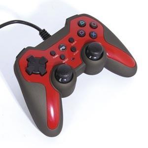 アクラス (PS3)ラバーコートコントローラーターボ2(レッド×ブラック) 返品種別B|joshin