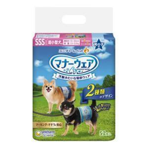 マナーウェア 超小型犬 男の子用 SSSサイズ 52枚 ユニ・チャーム マナ-オトコノコSSS52マイ 返品種別A|joshin