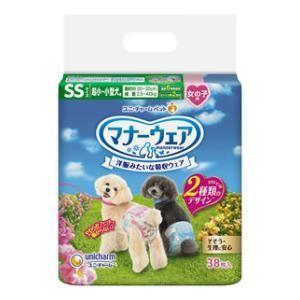 マナーウェア 超小〜小型犬 女の子用 SSサイズ 38枚 ユニ・チャーム マナ-オンナノコヨウSS38マイ 返品種別A|joshin