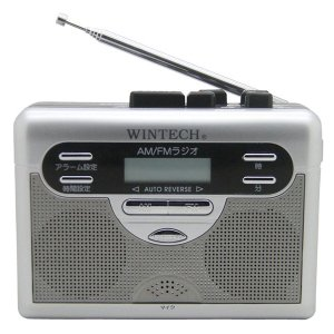 WINTECH ラジオ付テープレコーダー PCT-11R 返品種別A