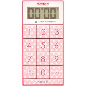 ドリテック デジタルタイマー ピンク dretec デジタルタイマー「スリムキューブ」 T-520P...