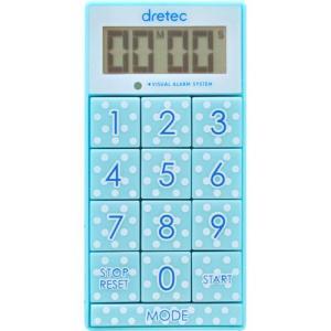 ドリテック デジタルタイマー ブルー dretec デジタルタイマー「スリムキューブ」 T-520-...