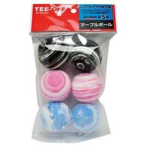 TEE-OFF TEE-OFF マーブルボール MIX 6個入り TOPL-2122 MIX 6P 返品種別A