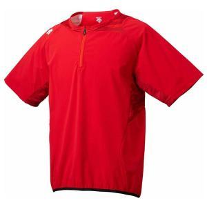 デサント 野球・ソフトボール用プラクティスウェア(RED・サイズ:S) DESCENTE ハイブリッドシャツ プロモデル DS-DBMLJC31-RED-S 返品種別A joshin