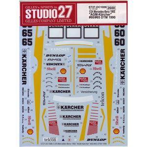 """スタジオ27 1/ 24 MercedesBenz190E""""AGM-Karcher""""#60/ #65..."""