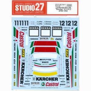 """スタジオ27 1/ 24 Mercedes-Benz 190E""""Karcher""""#11/ #12 D..."""
