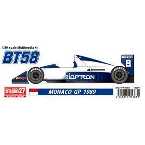 STUDIO27 BT58 MONACO GP 1989 (1/20スケール ガレージキット ST27-FK20331)の商品画像|ナビ