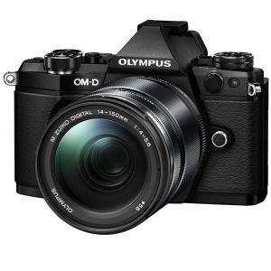 オリンパス デジタル一眼カメラ「OM-D E-M5 MarkII」14-150mmII レンズキット(ブラック) E-M5 MK2 14150K(BLK) 返品種別A|joshin