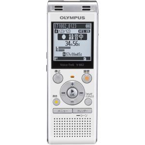 オリンパス 4GBメモリ内蔵+外部マイクロSDスロット搭載ICレコーダー(ホワイト) OLYMPUS Voice-Trek V-862-WHT 返品種別A|joshin