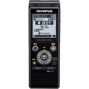 オリンパス 8GBメモリ内蔵+外部マイクロSDスロット搭載ICレコーダー(ピアノブラック) OLYMPUS Voice-Trek V-863-BLK 返品種別A|joshin