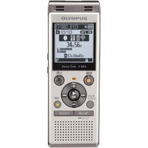 オリンパス 8GBメモリ内蔵+外部マイクロSDスロット搭載ICレコーダー(シャンパンゴールド) OLYMPUS Voice-Trek V-863-GLD 返品種別A|joshin