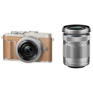 オリンパス ミラーレス一眼カメラ「OLYMPUS PEN E-PL9」EZダブルズームキット(ブラウン) E-PL9 WZKIT(ブラウン) 返品種別A|joshin
