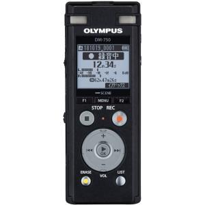 オリンパス リニアPCM対応ICレコーダー4GBメモリ内蔵(ブラック) OLMPUS Voice-Trek DM-750-BLK 返品種別A|joshin