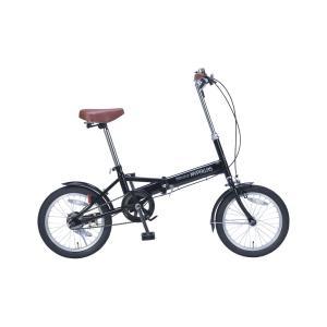 マイパラス 折りたたみ自転車 16インチ(ブラック) MYPALLAS M-101 返品種別B|joshin