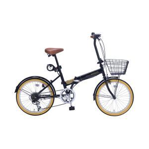 マイパラス 折りたたみ自転車 20インチ 6段変速 オールインワン(ブラック) MYPALLAS M-252-BK 返品種別B|joshin