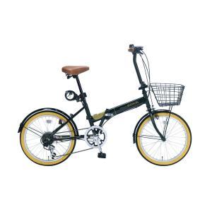 マイパラス 折りたたみ自転車 20インチ 6段変速 オールインワン(ダークグリーン) MYPALLAS M-252-GR 返品種別B|joshin