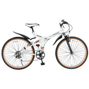マイパラス 折りたたみ自転車 ATB 26インチ 6段変速 Wサス(ホワイト) MYPALLAS M-670 返品種別B|joshin