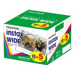 富士フイルム インスタントカラーフィルム instax WIDE 5パック品(10枚入×5) INSTAX WIDE K R 5 返品種別A|joshin