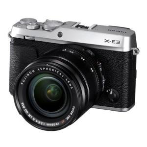 富士フイルム デジタル一眼カメラ「X-E3」ズームレンズキット(シルバー) F X-E3LKS 返品種別A|joshin