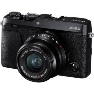 富士フイルム デジタル一眼カメラ「X-E3」XF23mmF2 R WR キット(ブラック) FX-E3LK23F2B 返品種別A|joshin