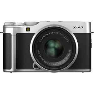 富士フイルム ミラーレス一眼カメラ「FUJIFILM X-A7」レンズキット(シルバー) FX-A7...